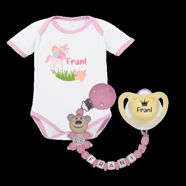 Baby Geschenkset zur Geburt - Einhorn / Prinzessin (Mädchen)