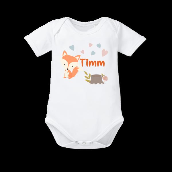 Baby Body mit Namen Fuchs (Junge / Mädchen)