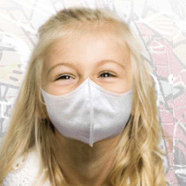 5er Set FFP1 Atemschutz / Mundschutz für Kinder (3-12 Jahre) Junge / Mädchen