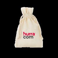 Geschenksäckchen / Geschenk Tüte mit Logo bedruckt Baumwolle