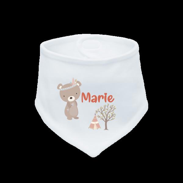 Baby Halstuch mit Namen Bär (Junge / Mädchen)