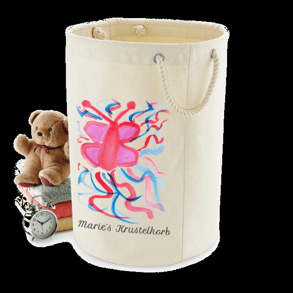 Wäschekorb / Spielzeug Storage mit selbst gemalten Kinderbild bedruckt - Mein Bild für Dich by Schnullireich