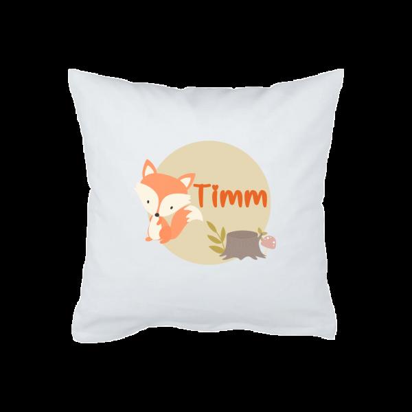 Babykissen / Schmusekissen mit Namen Fuchs (Junge / Mädchen)