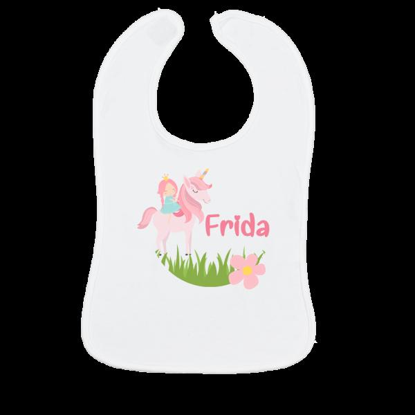 Baby Lätzchen mit Name bedruckt für Kinderbesteck mit Gravur