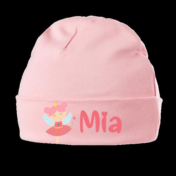 Babymütze mit Namen Kleine Fee (Mädchen) 0-6 / 6-18 Monate
