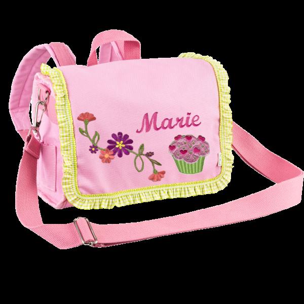 Personalisierte Kindergartenrucksack  mit Namen Cupcake Mädchen Rosa