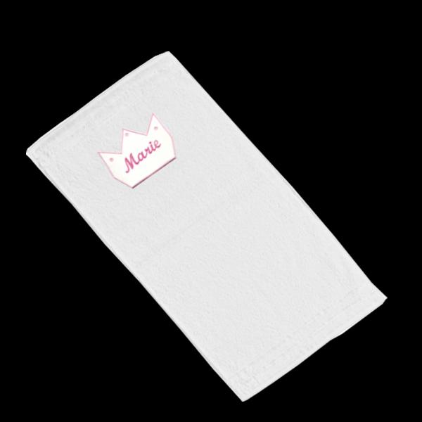 Handtuch mit Namen Krone (Mädchen) Rosa
