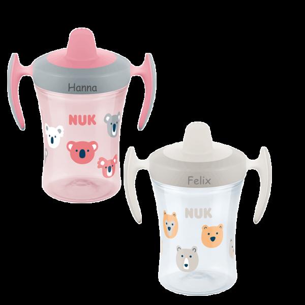 NUK Trinklernbecher / Trinkbecher mit Namen (Trainer Cup)