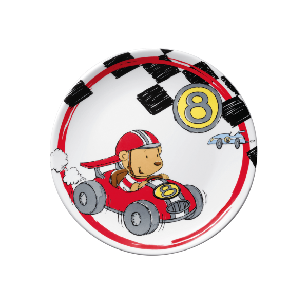 Puresigns Quick Rennfahrer Kinderteller Porzellan Ersatzteller