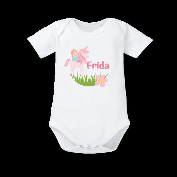 Baby Body mit Namen Einhorn (Mädchen)