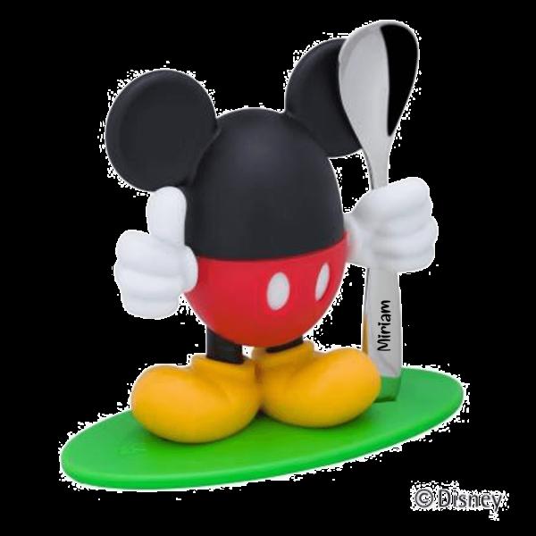 WMF Eierbecher Mickey Mouse + Löffel mit Namen graviert