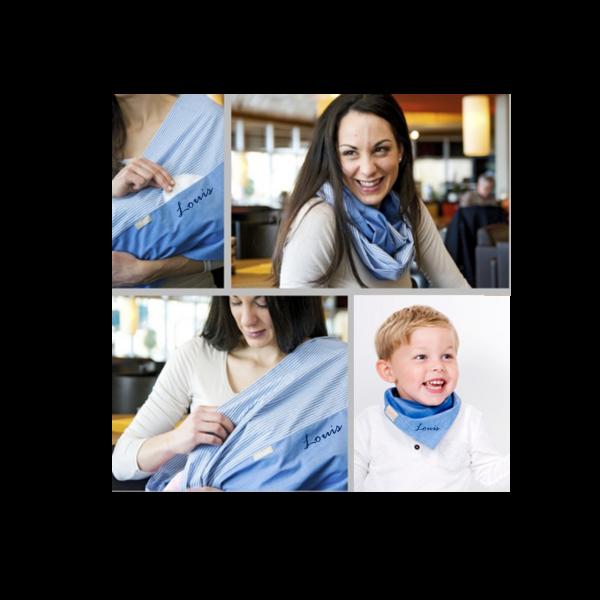 Personalisierbares Stilltuch und Baby Halstuch mit Namen bedruckt