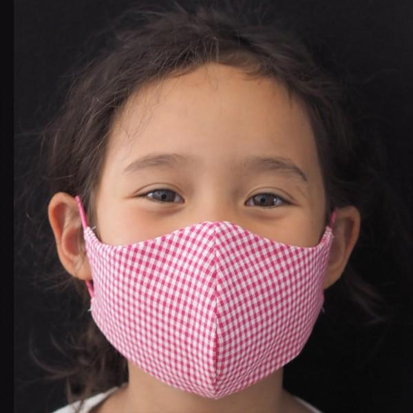 Kindermaske vichy Mädchen