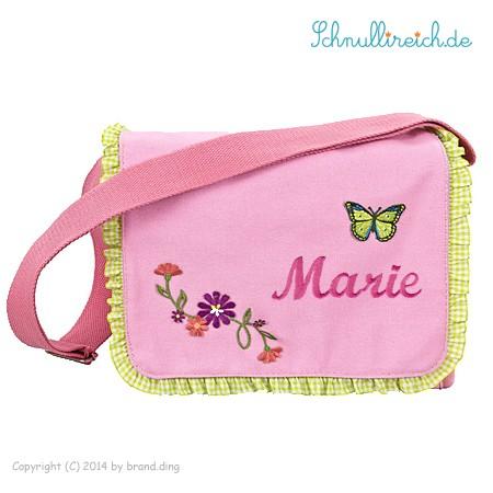 Rucksack-Tasche mit Namen Butterfly (Rosa)