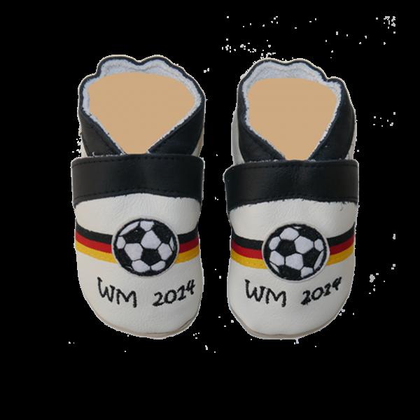 Krabbelschuhe mit Namen (Junge) Deutschland Fußball