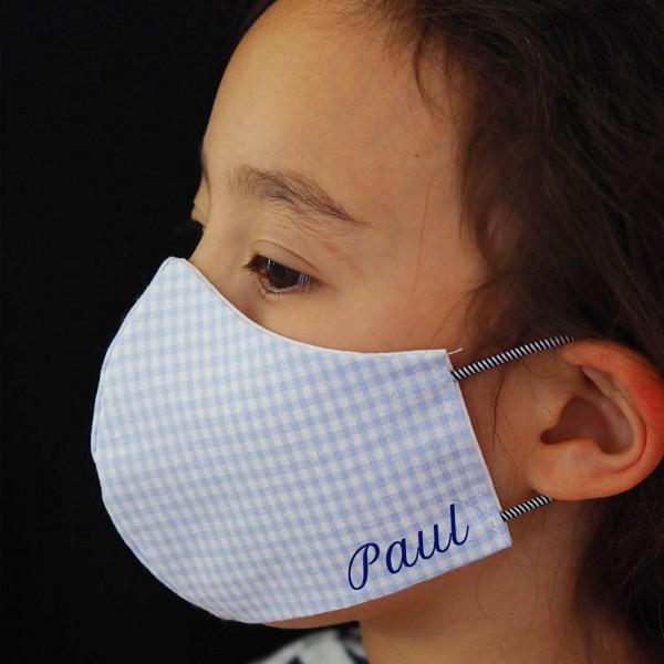 Kleine-Helden-Maske: Behelfs-Schutzmaske mit Namen für Kinder (6-9 Jahre) Vichy Junge