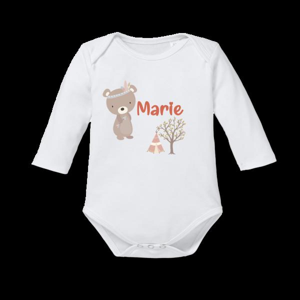 Baby Body mit Namen Bär (Junge / Mädchen)