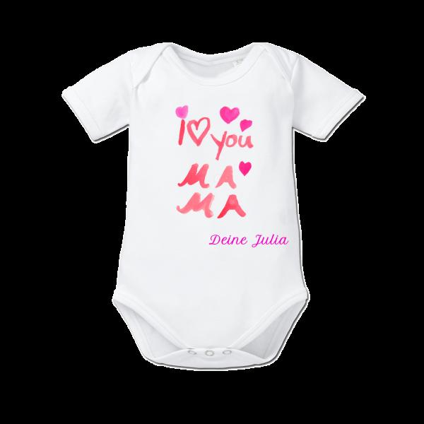Baby Body kurzarm weiß mama Mädchen von Schnullireich