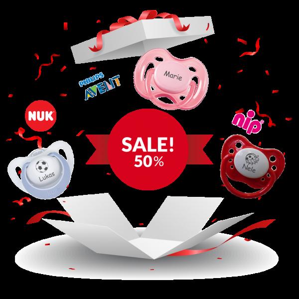 Schnuller mit Namen AVENT NUK NIP 50% Sale