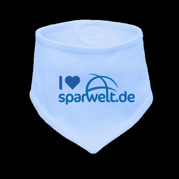 Baby Halstuch mit Logo bedruckt (Bio-Baumnwolle) Blau Junge