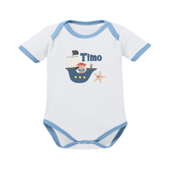 Baby Body mit Namen Pirat (Junge)
