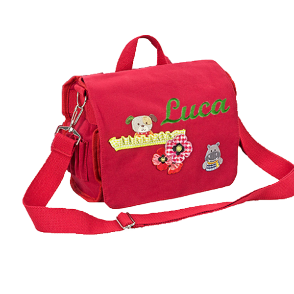 Kindergartenrucksack mit Namen Rot Junge / Mädchen