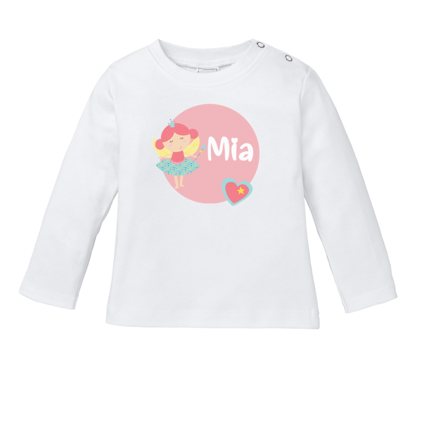 Baby Shirt mit Namen + Fee bedrucken (T-Shirt + Langarm)