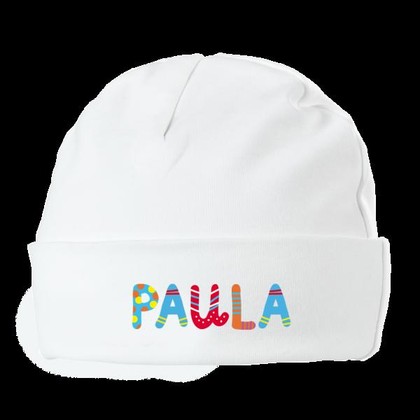 Baby Mütze mit Namen bunte Buchstaben Junge Mädchen