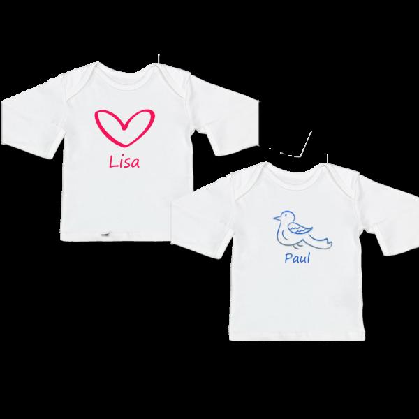 Baby Langarm Shirt mit Namen und Wunschmotiv 21,90 € günstig online kaufen