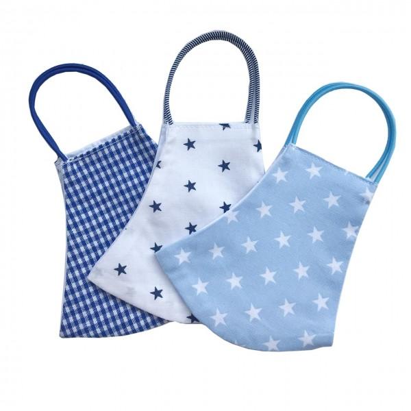 Behelfs-Schutzmasken für Kinder 6-9 Jahre Junge 3er Set