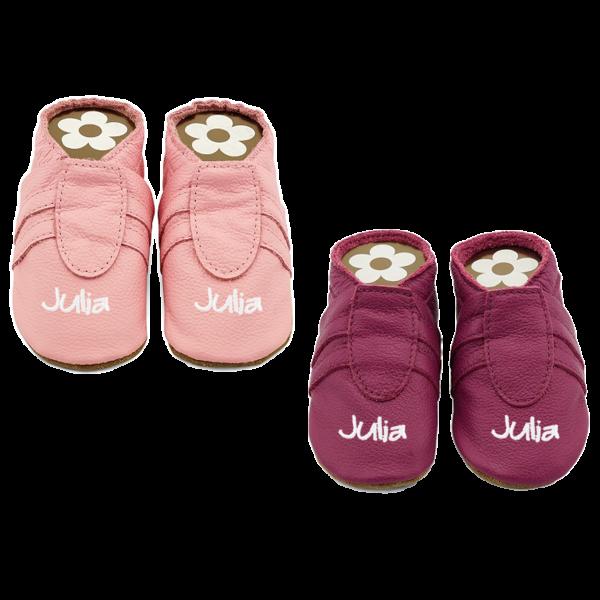 Krabbelschuhe mit Namen Sneaker (Mädchen)