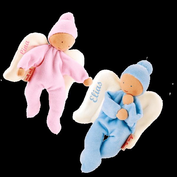Käthe Kruse Schmusepuppe / Schmusetuch Engel mit Namen (Junge / Mädchen)
