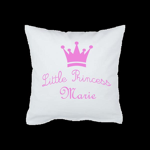 Babykissen / Schmusekissen mit Namen kleine Prinzessin (Mädchen)