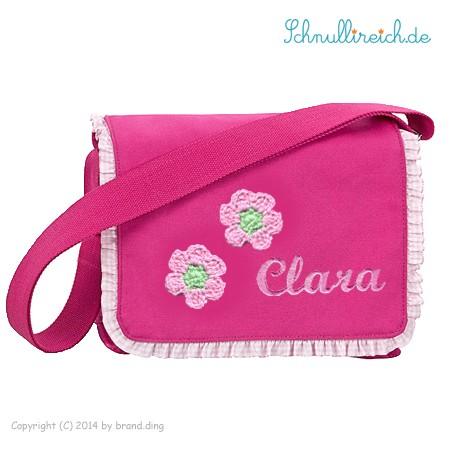 Rucksack-Tasche mit Namen Blume (Pink)