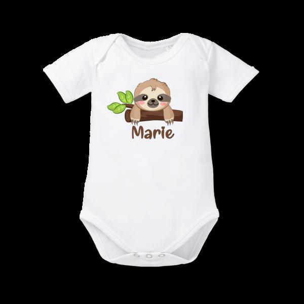 Baby Body mit Namen Faultier (Junge / Mädchen)